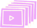 Illustration of streaming video icons